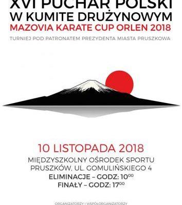 XVI Puchar Polski w Kumite Drużynowym Mazovia Karate Cup ORLEN 2018