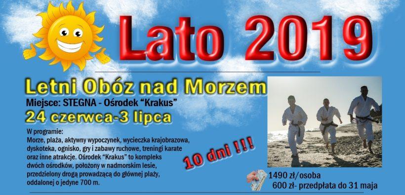Letni Obóz nad Morzem-Stegna 2019