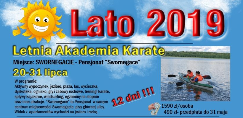 Letnia Akademia Karate-Swornegacie 2019