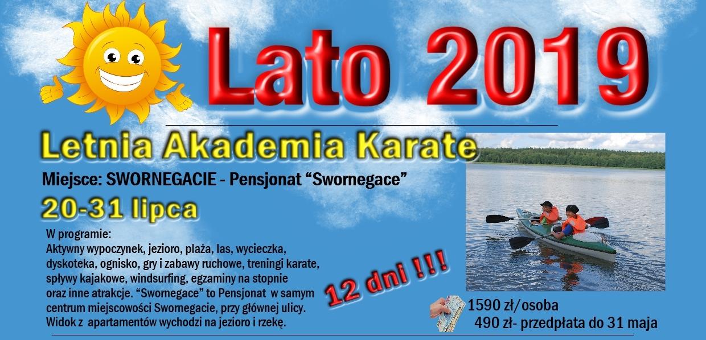 20.07-31.07.2019 Letnia Akademia Karate-Swornegacie
