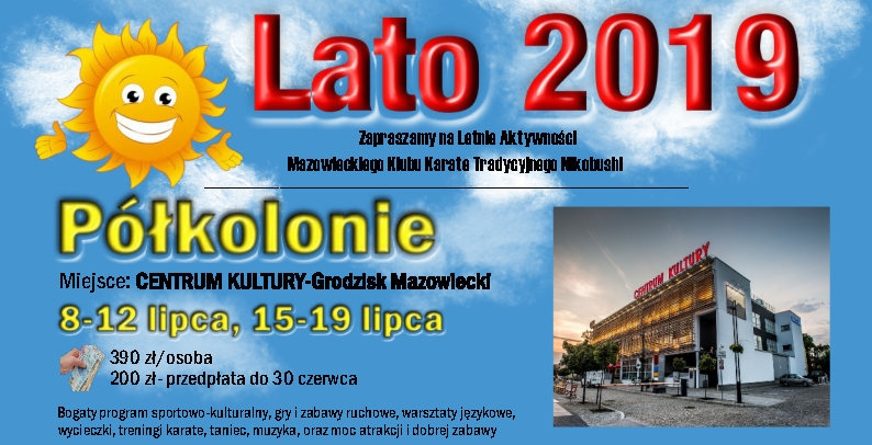 Półkolonie 2019 w Centrum Kultury Grodzisk Mazowiecki