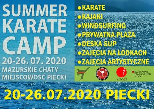Letnia Akademia Karate – MAZURSKIE CHATY – PIECKI  2020