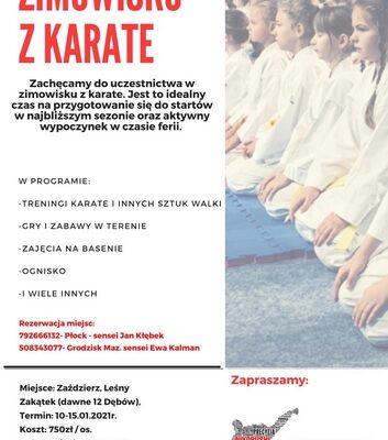 Zimowisko z Karate, Zimowa Akademia Karate-Zaździerz 2021