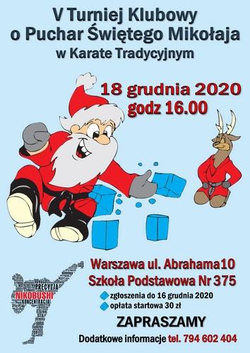 V Klubowy Turniej o Puchar Świętego Mikołaja w Karate Tradycyjnym